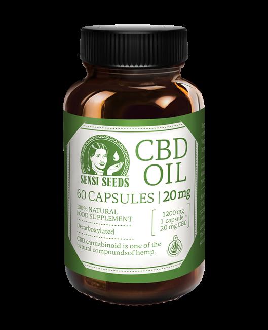 CBD-Öl - 20 mg - 60 Kapseln
