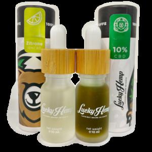 Probier-Set Aromaöl Zitrone + 10% Vollspektrum CBD-Öl - Lucky Hemp