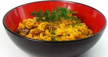 Curry Reis Pilaw mit Cannabis